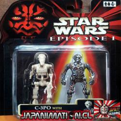 C-3PO With Battle Droid Star Wars Episode 1 Takara Tomy Hasbro Japones Original