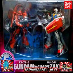 Gundam RX-78-2 V/S Chars Zaku II MS-06S Mobile Suit In Action MSIA Original Bandai Japones