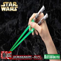 Palitos Star Wars de Sushi Luke Skywalker con Luz Led Light Saber Episode VI Green Kotobukiya Nuevo