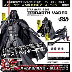 Darth Vader Revo Star Wars Revoltech Original Kaiyodo Japon
