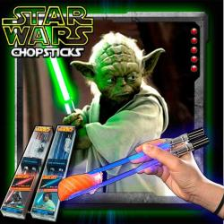 Palitos Star Wars de Sushi Yoda con Luz Led Light Saber Green Kotobukiya Nuevo