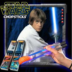 Palitos Star Wars de Sushi Luke Skywalker con Luz Led Light Saber Blue Kotobukiya Nuevo