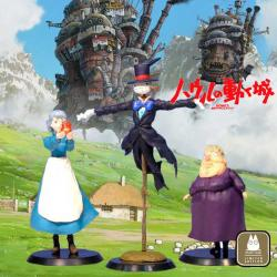 Figuras Howl's Moving Castle 3 Figure Set Ghibli El Castillo Ambulante