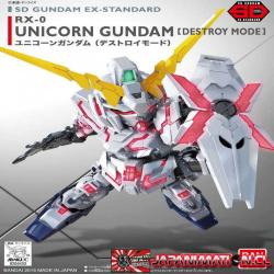 Gundam EX Standard Unicorn Gundam (Destroy Mode) SD Maqueta Nueva Bandai Super Deformed